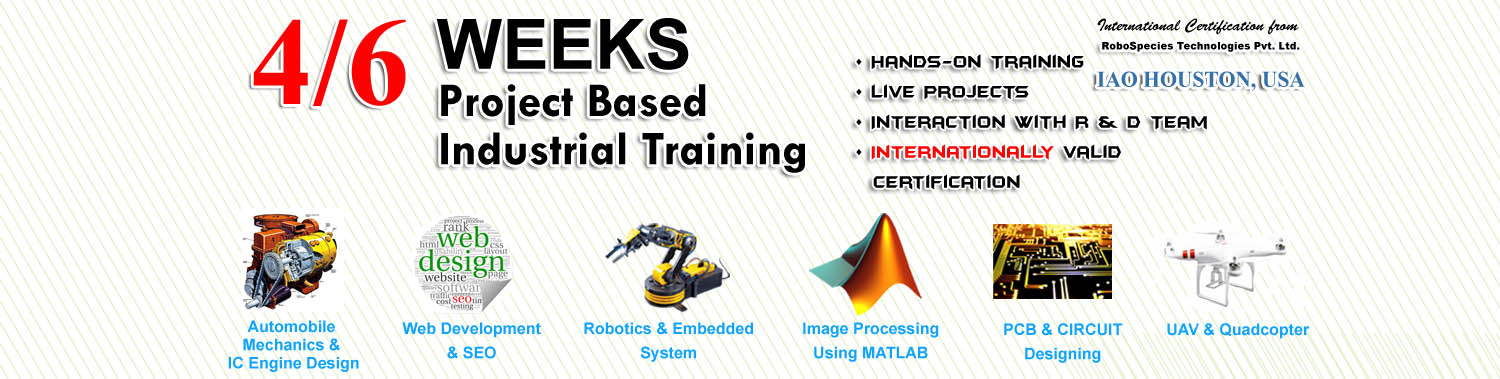 6 Weeks Training In Robotics,Robotics Training,Internship